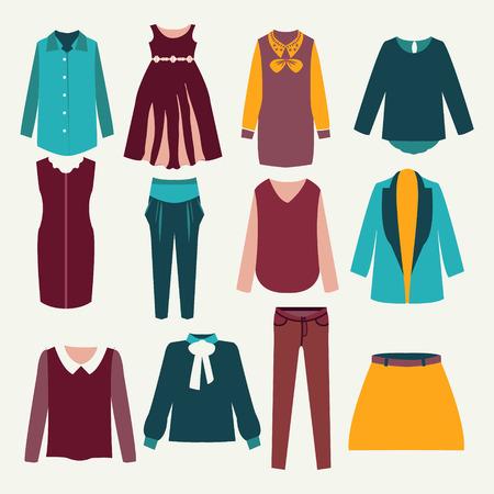 cardigan: Fashion collection of woman wardrobe Illustration
