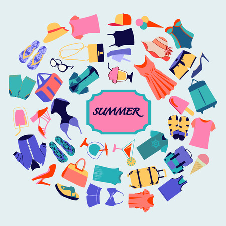 Fashion boutique Summer sales background Stock fotó - 42077773