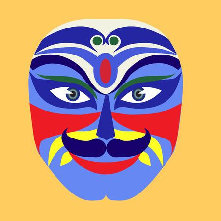 peking: Vector bfckground  mask makeup of Peking opera drama Illustration