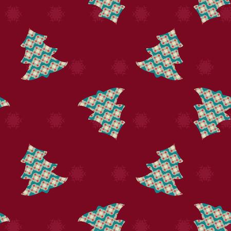christmas tree illustration: Seamless Christmas pattern  Christmas tree- Illustration
