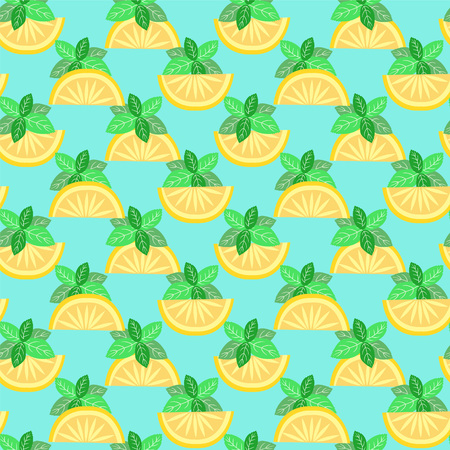 lemon lime: Seamless pattern with citrus design orange, lemon, lime  - Illustration Illustration