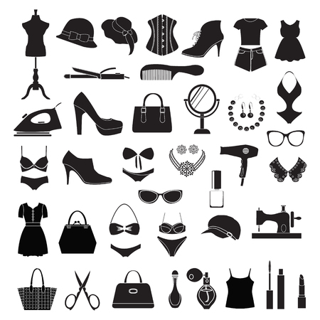 fashion accessories: set of female fashion accessories Beauty icons