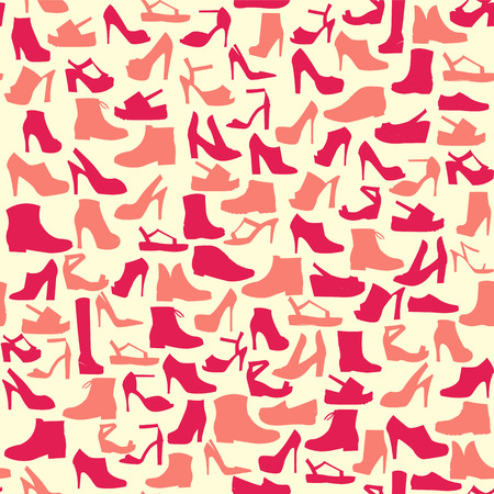 Silhouette vector icon set of mens  and of womens shoes fashion  Footwear Illustration