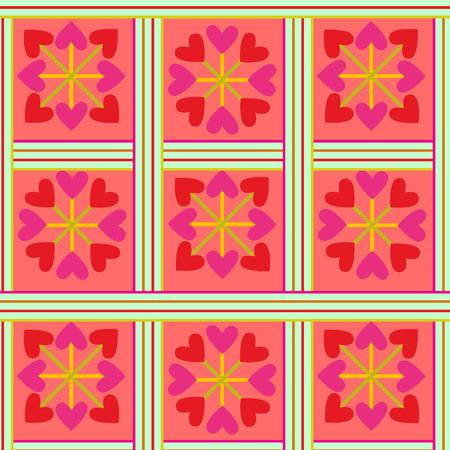 romance: Valentine hearts background  seamless romance pattern Illustration