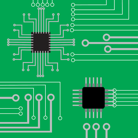 electronic background: System computer electronic board flat modern background