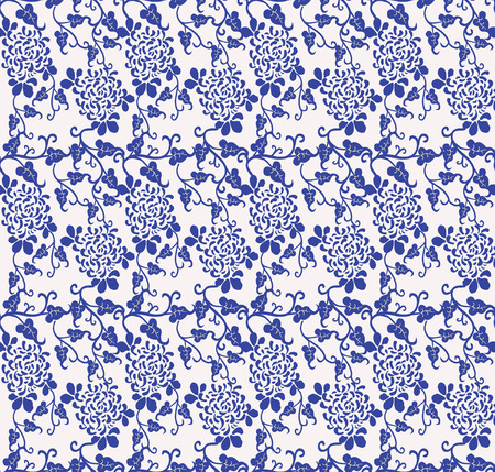 vector floral chinese seamless vintage ornament pattern -illustration