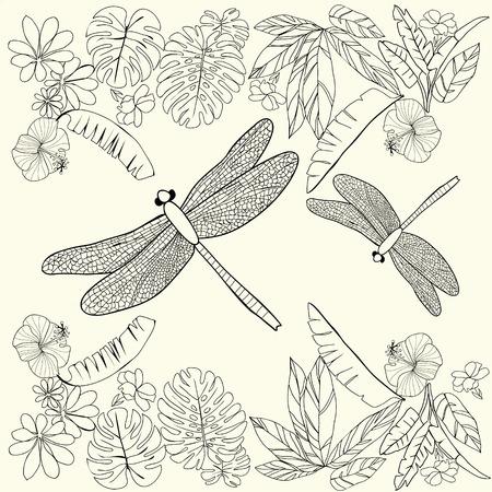 Hawaii Hibiskus-Blume, Blatt Für Malbuch Seite Für Erwachsene. Kann ...