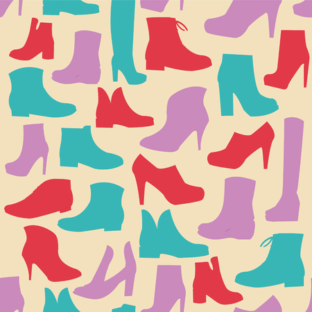 Silhouette background  of mens  and of womens  fashion  Footwear winter spring collection