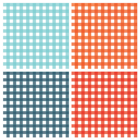 vector seamless checkered pattern vintage plaid fabric texture abstract geometric background Illustration