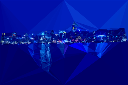 hong kong harbour: Hong kong night harbour color triangles skyline abstract triangles modern view background. Illustration