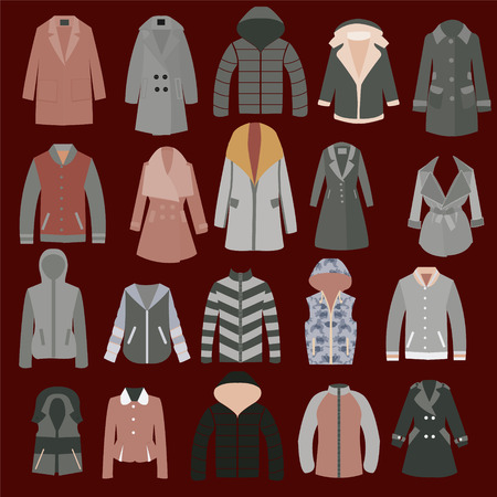 Autumn, spring and winter seasonal clothing.