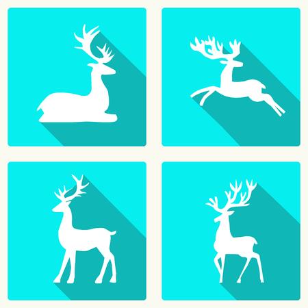 Set van herten silhouet illustratie.
