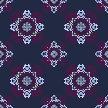 Vector abstract ethnic seamless pattern tribal background for Fabric, cloth design, wallpaper, wrapping. Ethnic geometric print.