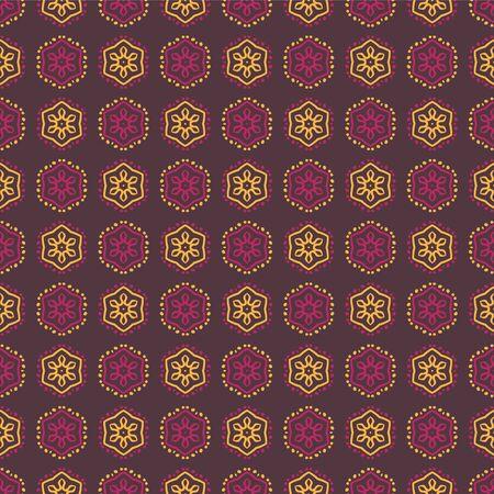 Vector seamless pattern geometric background. Vintage ornament art design.