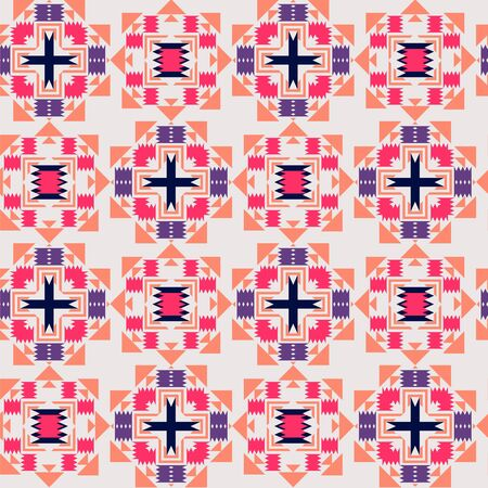 Vector decorative tribal geometric seamless pattern. Can be used for wallpaper, backgrounds, decoration for your design.