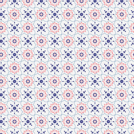 Vector Geometrical Print Ornament. Seamless Background for Ornate fabric texture pattern can be used for wallpaper, pattern fills, surface textures.