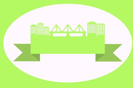 green street: Calle verde con un puente en la cinta