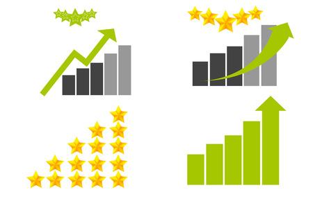 star rating: Oro e stella verde punteggio e grafica