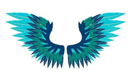 wings vector: Abstract bird wings. Vector illustration Illustration