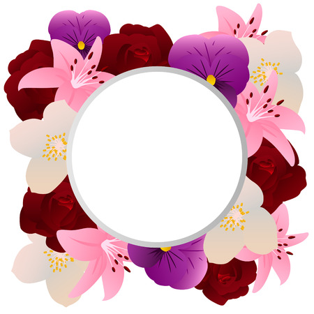 fragrant: Fragrant flowers. Background with place for text. Vector illustration Illustration