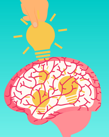 intellectual: Theft of intellectual property. Idea Stealing. Vector illustration Illustration