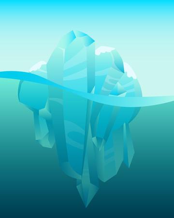 Antarctica winter landscape. Iceberg in ocean.