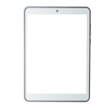 Tablet computer isolated on white background. Front view. 3d rendering Reklamní fotografie