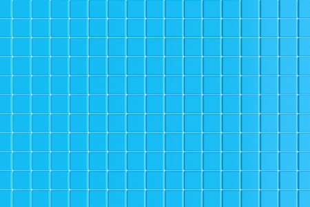 Ceramic tiles for the pool. Blue background. 3d rendering Stock Photo