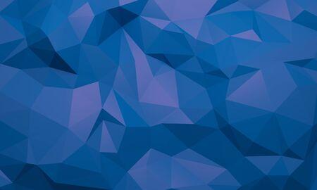 Blauer niedriger Polyabstrakter Hintergrund. Hintergrunddesign für Produktwerbung. 3D-Rendering