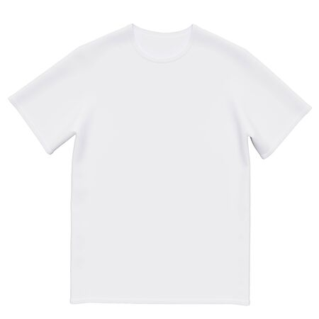 Mockup men t-shirt isolated on white background. Front view. 3d rendering Stock Photo
