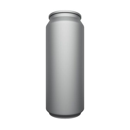 Aluminum can mockup isolated on white background. 3d rendering