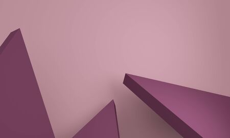 Abstract background with lilac triangles. Backdrop design for product promotion. 3d rendering