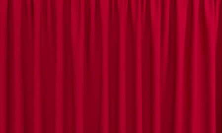 Red curtain with pleats for the stage. 3d rendering 版權商用圖片