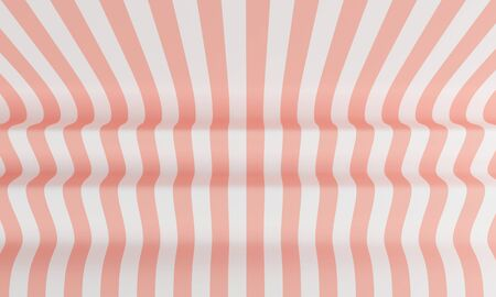 Abstract background with pink and white line in the form of a wave. 3d rendering