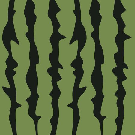 Green watermelon texture with dark lines. Flat design. Vector illustration