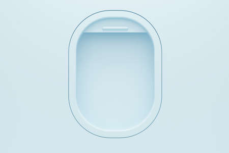 Airplane light window template. 3d rendering