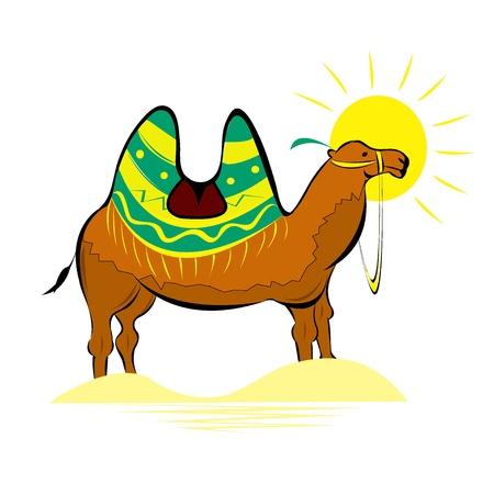convoy: Illustrazione etnica della Battriana camal