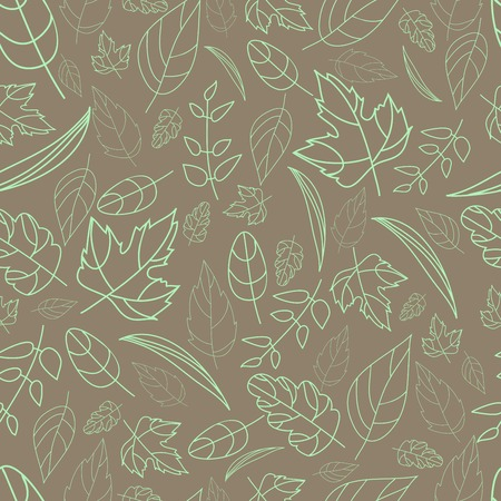 vector pattern of autumn leaves of different shapes autumn elements