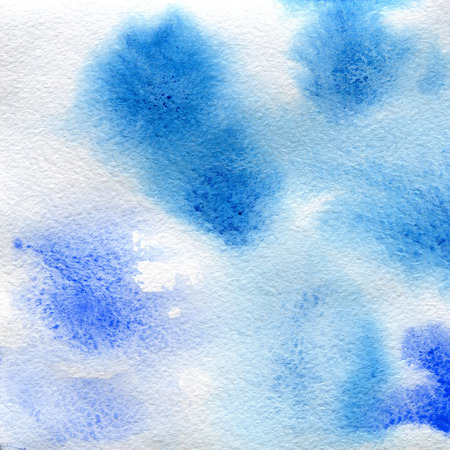 watercolor texture transparent blue color. watercolor abstract background, spot, blur, fill
