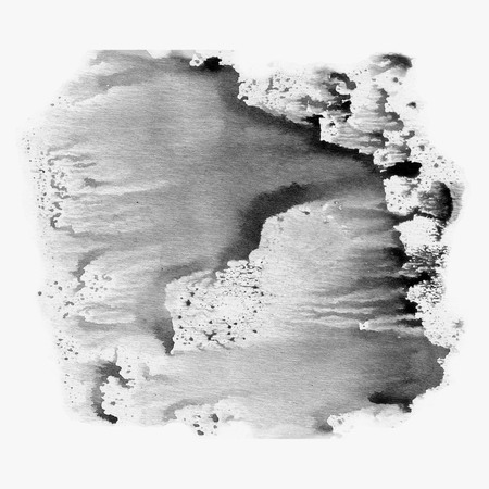 dabs: Illustration watercolor texture of transparent black, white and gray and gray colors. Watercolor abstract background, spots, blur, fill, print