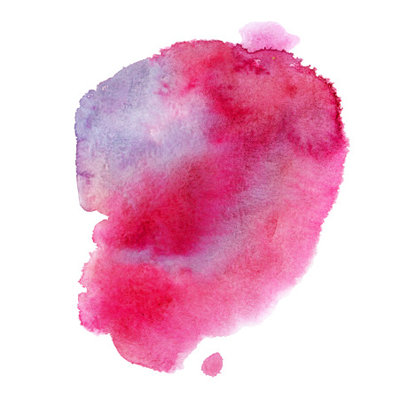 Watercolor illustration. Watercolor stain of pink color