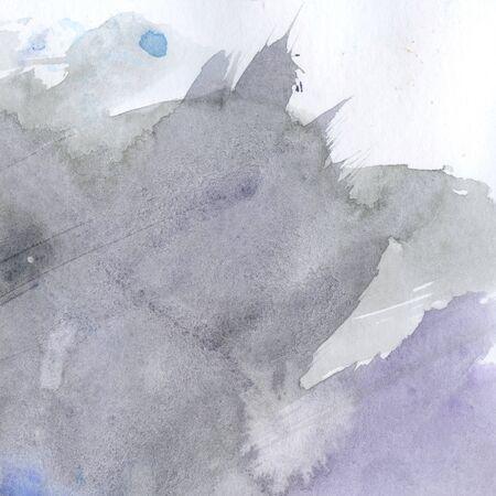 Watercolor illustration. Texture. Watercolor transparent stain. Blur spray Grey colour Foto de archivo - 133739607