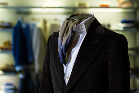 businesslike: Detail of male costume in the store Stock Photo