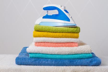 ironed: iron on  ironed colored bath towels