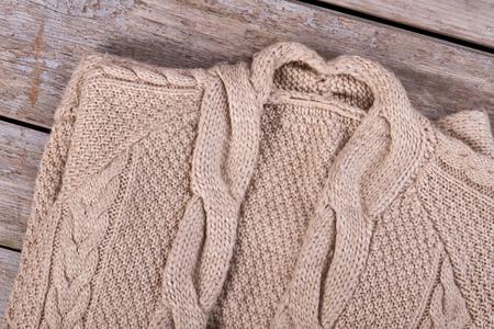Beautiful Large Knitting Sweater Braids In Knitting Wool Hand