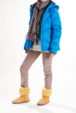 Warm winter womens clothing. Casual style.