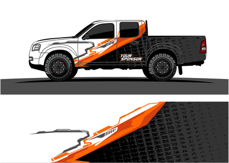 Truck graphic vector. Abstract grunge background design for vehicle vinyl wrap 版權商用圖片 - 100181787