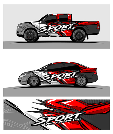 car graphic vector. abstract racing shape design for vehicle vinyl wrap Stock fotó - 100256486