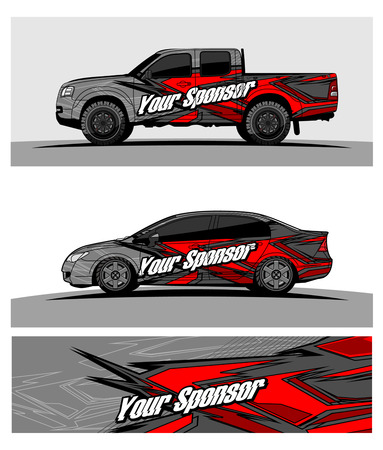 car graphic vector. abstract racing shape design for vehicle vinyl wrap