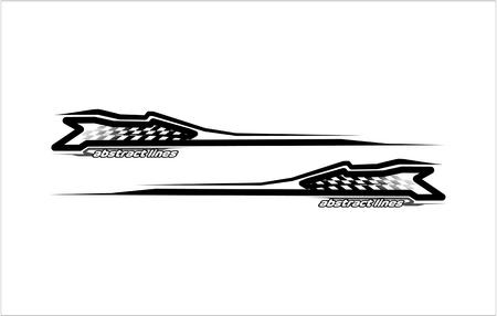 abstract modern shape lines vestor design for car sticker and vehicle branding Illusztráció